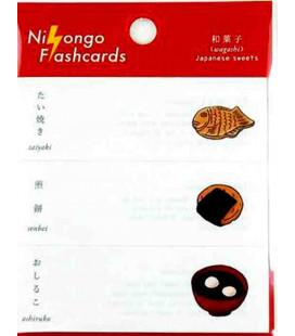 "Notas Adhesivas japonesas (post-it) ""Nihongo flashcards"" - Wagashi (Japanese sweets)"