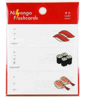 "Japanische Haftnotizen (Post-It) ""Nihongo Flashcards"" - Sushi"